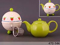 Заварочный чайник Lefard 750 мл с ситечком и колпаком 470-144