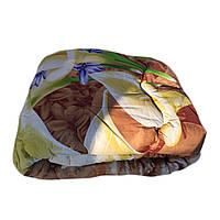 Одеяло полуторное 150*220 из овечьей шерсти,ткань поплин.