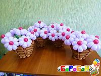 """Букет цветов из шаров """"Крохи-ромашки"""""""