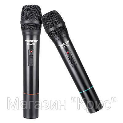 Профессиональная радиосистема Takstar TS-6700HH, беспроводные микрофоны!Акция