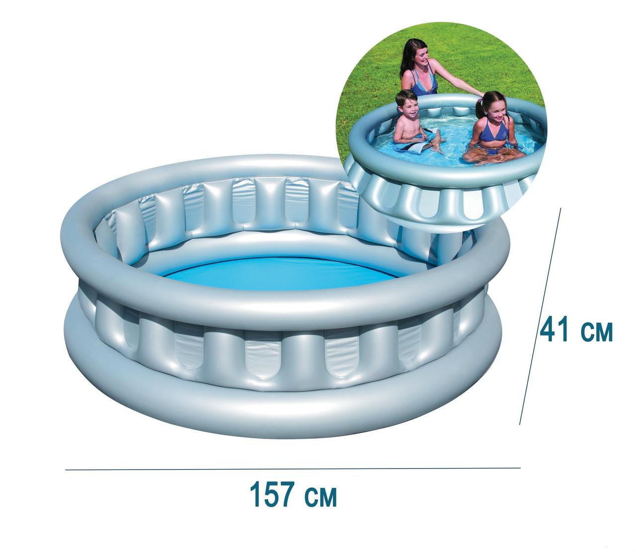 Детский надувной бассейн басейн 152х43 см BestWay Космический корабль круглый