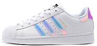 """Женские кроссовки Adidas Originals Superstar """"White/Hologram"""" (Адидас Суперстар) белые"""