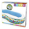 Детский надувной бассейн овальный райская лагуна 262х160х46 см INTEX 56490 Басейн овальный, фото 3