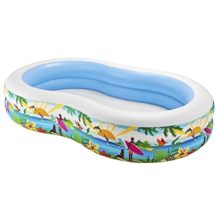 Детский надувной бассейн овальный райская лагуна INTEX Басейн