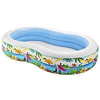 Детский надувной бассейн овальный райская лагуна INTEX
