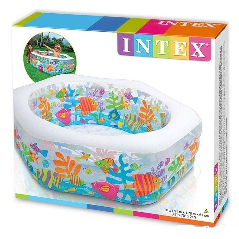 Надувной бассейн Intex Басейн фигурный 191х178х61 см