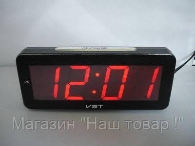 Часы электронные настольные VST 763T-1 (красное табло)!Акция