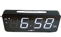 Светодиодные электронные часы VST 763T-6, настольные часы с будильником!Акция