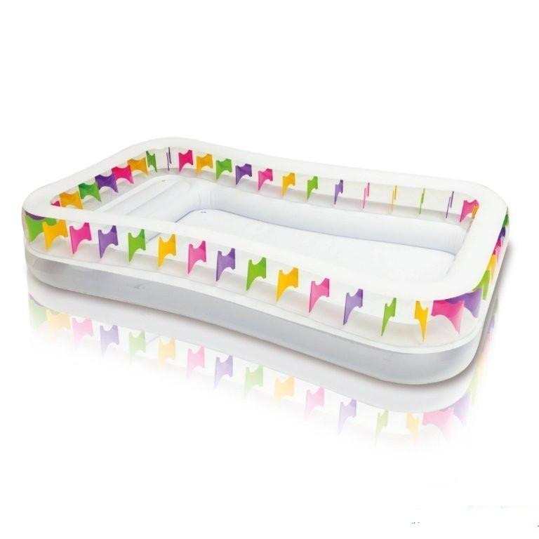 Детский надувной бассейн с надувными сидениями 295 х 53 см INTEX Басейн прямоугольный