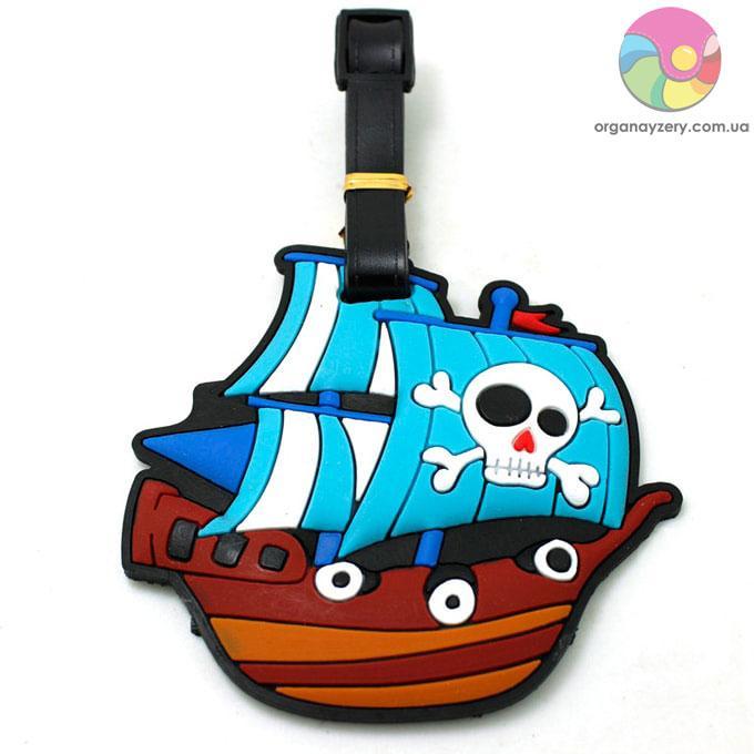 Бирка для багажу - Піратський корабель