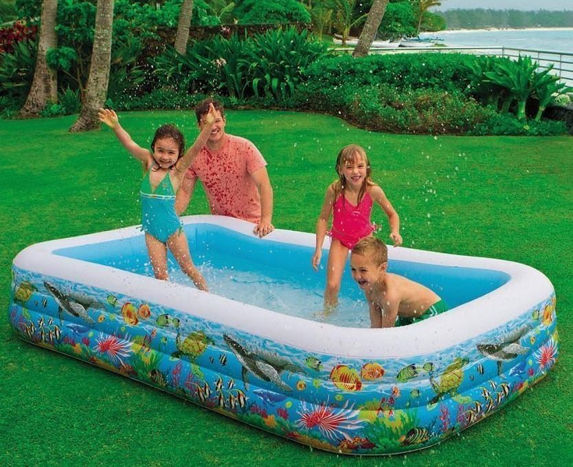 Детский басейн Басcейн прямоугольный 305х183х56 см