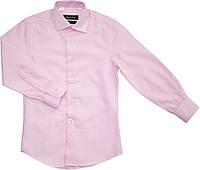 Рубашка школьная на мальчика розовая ТМ Pan Fila размер 116 122 128 134 140 152