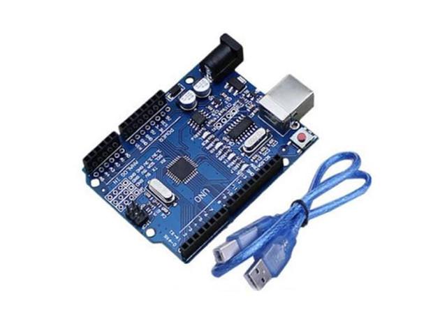 Радиоконструктор UNO R3 Mega328P WAVGAT с USBA-USBB шнуром