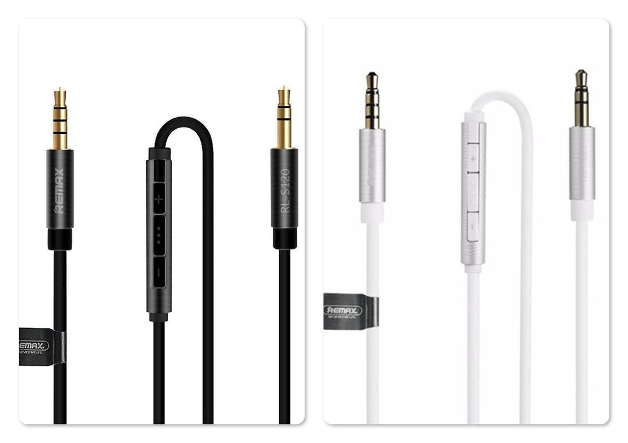 Аудио кабель с микрофоном и пультом Remax RL-S120