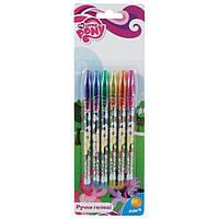 Набор гелевых ручек Kite Little Pony 0,8мм 6 цветов с глиттером