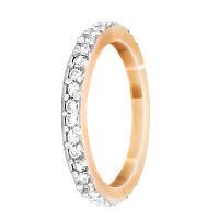 """Серебряное кольцо с камнями и позолотой """"092"""", фото 1"""