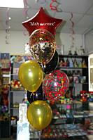 Фонтан зірка+6шт. гелієвих кульок Вінниця