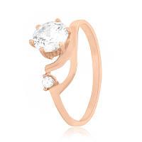 """Позолоченное серебряное кольцо с камнями """"116"""", фото 1"""