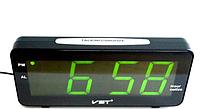 Настольные электронные часы VST 763T-4 (зеленое табло)!Опт