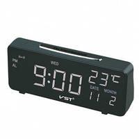 Светодиодные электронные часы + датчик температуры и дата VST-763W-5!Акция