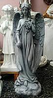 Скульптуры ангелов из фиброполимер. Ангел с розами 76 см стеклофибробетон, фото 1
