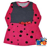 """Летнее платье """"Горох"""", трикотаж, для девочек от 1-5 лет (5ед. в уп.)"""