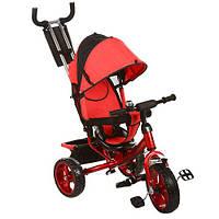 Велосипед M 3113-3 (1шт)три кол.EVA (11/9),колясочный,своб.ход колеса,тормоз,подшипн.,красный