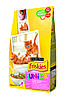 Purina Friskies Junior Kitten, Сухой корм с курицей, морковью и молоком для котят 1,5кг