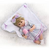 Кукла София, реборн, 42см, мягконабивная, в подарочной коробке