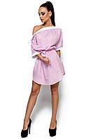 Платье с открытым плечом Тира