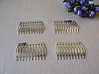 Гребешок металический - основа 5,5 см цвет серебристый цена 6,50 грн