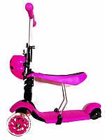 Самокат-беговел детский трехколесный c сиденьем iTtrike JR 3-016 фиолетовый