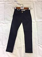 Синие котоновые брюки для девочек подростковые,школа