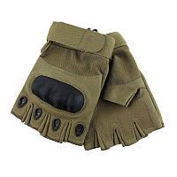 Перчатки тактические беспалые карбон, койот