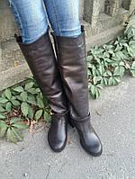 Женские кожаные высокие сапоги -итальянская колодка