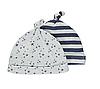 Шапочки для новорожденных мальчиков Набор 2 шт. Stripe and stars George (Англия)