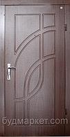 Двери входные МДФ/МДФ Метр Дор Регион MD 003, 860*2050, R, (красное дерево) 1 замок, фрезер с 2-х сторон