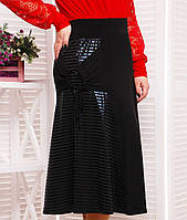 Женская юбка миди со вставками батал (Юта tn)