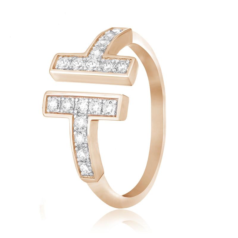 """Серебряное кольцо с позолотой копия """"Tiffany"""""""