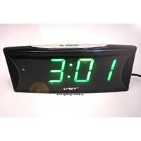 Часы электронные с будильником VST 719T-4 (зеленое табло)!Акция