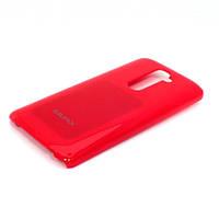 Чехол-накладка для LG G2 D802, LG G2 LS980, пластиковый, Buble Pack, Малиновый /case/кейс /лж
