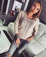 Женский однотонный свитер  (4 цвета)