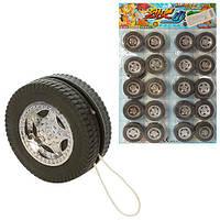 Йо-йо M 3561  (720шт) колесо 5см, веревочка, разобранный, 20шт на листе, 26,5-38-2,5см