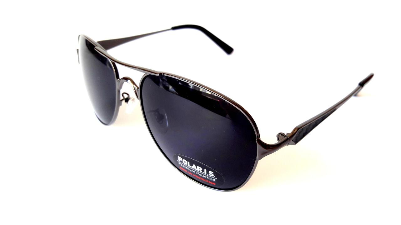 Солнцезащитные очки Polaris с поляризацией, авиатор, металл, сталь, унисекс 2d631d1ab16