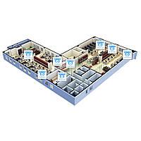 Видеонаблюдение AHD 1Мп 8 камер для офиса - Видеонаблюдение для офиса - Видеонаблюдение под ключ - Видеонаблюд