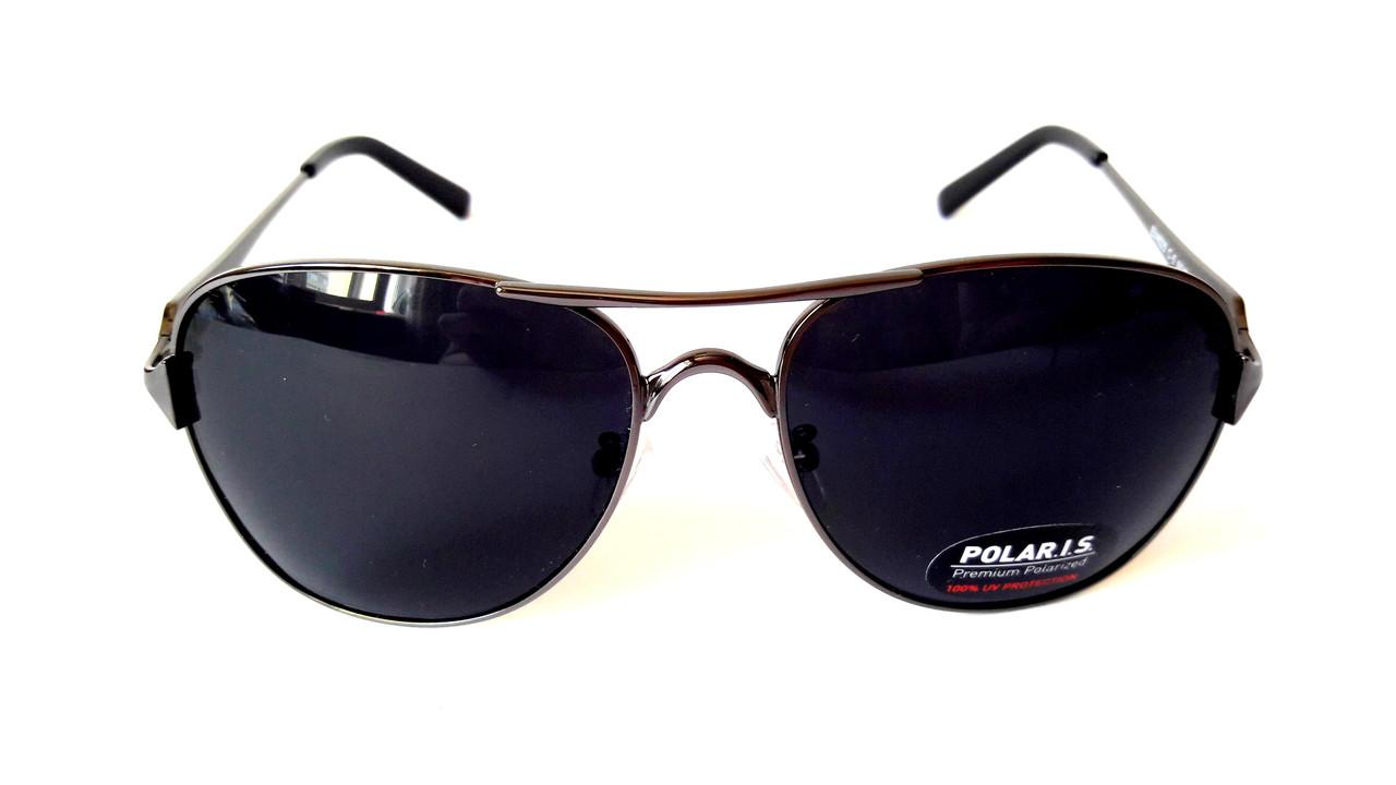 Солнцезащитные очки Polaris с поляризацией, авиатор, металл, сталь,  унисекс, ... f78577de11f