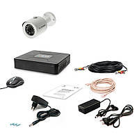 Комплект проводного видеонаблюдения Tecsar 1OUT-2M-AUDIO