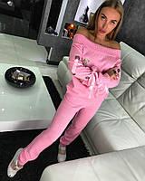 Женский теплый костюм с лентами( 2 цвета)