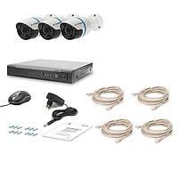 Комплект проводного видеонаблюдения Tecsar IP 3OUT