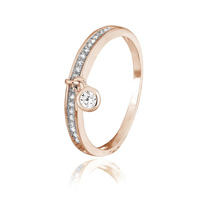 """Серебряное кольцо с позолотой """"265"""""""